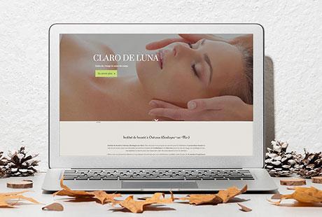 création d'un site internet pour un institut de beauté